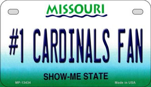 Number 1 Cardinals Fan Wholesale Novelty Metal Motorcycle Plate MP-13434