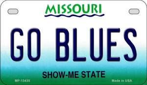 Go Blues Wholesale Novelty Metal Motorcycle Plate MP-13435