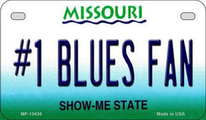 Number 1 Blues Fan Wholesale Novelty Metal Motorcycle Plate MP-13436