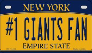 Number 1 Giants Fan Wholesale Novelty Metal Motorcycle Plate MP-13448