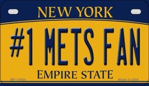 Number 1 Mets Fan Wholesale Novelty Metal Motorcycle Plate MP-13454