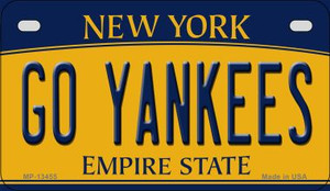 Go Yankees Wholesale Novelty Metal Motorcycle Plate MP-13455