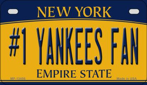 Number 1 Yankees Fan Wholesale Novelty Metal Motorcycle Plate MP-13456