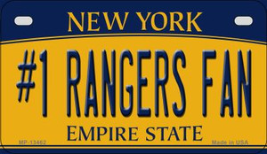 Number 1 Rangers Fan Wholesale Novelty Metal Motorcycle Plate MP-13462