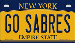 Go Sabres Wholesale Novelty Metal Motorcycle Plate MP-13463
