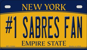 Number 1 Sabres Fan Wholesale Novelty Metal Motorcycle Plate MP-13464