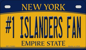 Number 1 Islanders Fan Wholesale Novelty Metal Motorcycle Plate MP-13466