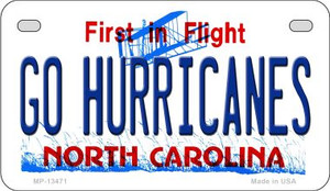 Go Hurricanes Wholesale Novelty Metal Motorcycle Plate MP-13471
