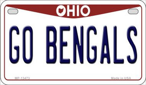 Go Bengals Wholesale Novelty Metal Motorcycle Plate MP-13473