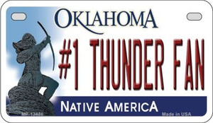 Number 1 Thunder Fan Wholesale Novelty Metal Motorcycle Plate MP-13486