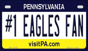 Number 1 Eagles Fan Wholesale Novelty Metal Motorcycle Plate MP-13490