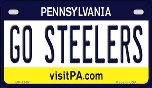 Go Steelers Wholesale Novelty Metal Motorcycle Plate MP-13491