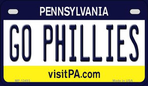 Go Phillies Wholesale Novelty Metal Motorcycle Plate MP-13493