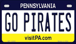 Go Pirates Wholesale Novelty Metal Motorcycle Plate MP-13495