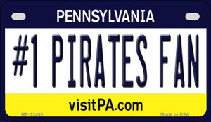Number 1 Pirates Fan Wholesale Novelty Metal Motorcycle Plate MP-13496