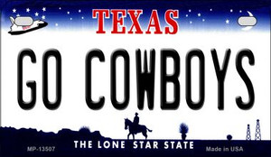 Go Cowboys Wholesale Novelty Metal Motorcycle Plate MP-13507
