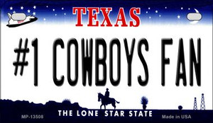 Number 1 Cowboys Fan Wholesale Novelty Metal Motorcycle Plate MP-13508