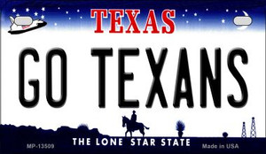 Go Texans Wholesale Novelty Metal Motorcycle Plate MP-13509