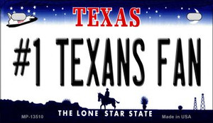 Number 1 Texans Fan Wholesale Novelty Metal Motorcycle Plate MP-13510