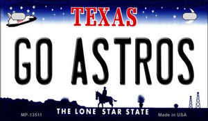 Go Astros Wholesale Novelty Metal Motorcycle Plate MP-13511