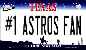 Number 1 Astros Fan Wholesale Novelty Metal Motorcycle Plate MP-13512