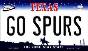 Go Spurs Wholesale Novelty Metal Motorcycle Plate MP-13519