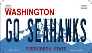 Go Seahawks Wholesale Novelty Metal Motorcycle Plate MP-13525