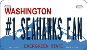 Number 1 Seahawks Fan Wholesale Novelty Metal Motorcycle Plate MP-13526