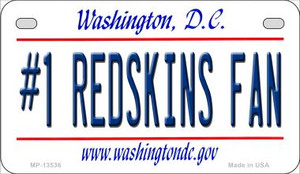 Number 1 Redskins Fan Wholesale Novelty Metal Motorcycle Plate MP-13536