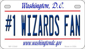 Number 1 Wizards Fan Wholesale Novelty Metal Motorcycle Plate MP-13540