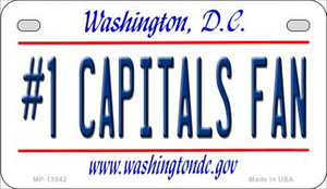 Number 1 Capitals Fan Wholesale Novelty Metal Motorcycle Plate MP-13542