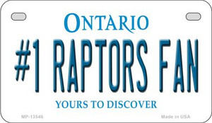 Number 1 Raptors Fan Wholesale Novelty Metal Motorcycle Plate MP-13546