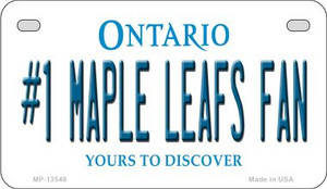 Number 1 Maple Leafs Fan Wholesale Novelty Metal Motorcycle Plate MP-13548
