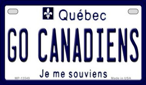 Go Canadiens Wholesale Novelty Metal Motorcycle Plate MP-13549