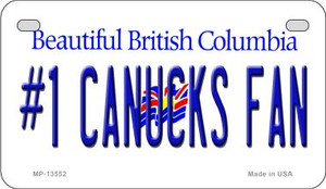 Number 1 Canucks Fan Wholesale Novelty Metal Motorcycle Plate MP-13552