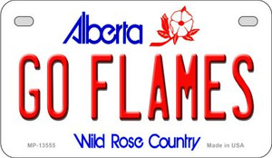 Go Flames Wholesale Novelty Metal Motorcycle Plate MP-13555