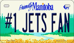 Number 1 Jets Fan Wholesale Novelty Metal Motorcycle Plate MP-13558