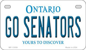 Go Senators Wholesale Novelty Metal Motorcycle Plate MP-13559
