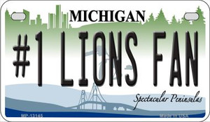 Number 1 Lions Fan Wholesale Novelty Metal Motorcycle Plate MP-13145