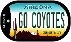 Go Coyotes Wholesale Novelty Metal Dog Tag Necklace DT-13319