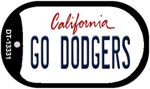 Go Dodgers Wholesale Novelty Metal Dog Tag Necklace DT-13331