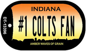 Number 1 Colts Fan Wholesale Novelty Metal Dog Tag Necklace DT-13396