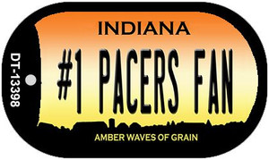 Number 1 Pacers Fan Wholesale Novelty Metal Dog Tag Necklace DT-13398