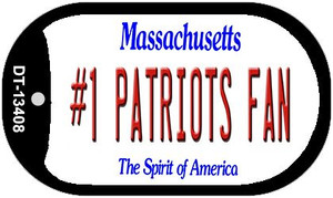 Number 1 Patriots Fan Wholesale Novelty Metal Dog Tag Necklace DT-13408