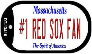 Number 1 Red Sox Fan Wholesale Novelty Metal Dog Tag Necklace DT-13410