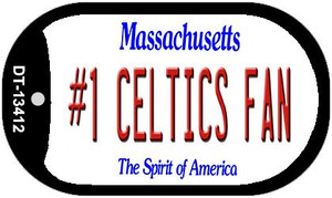 Number 1 Celtics Fan Wholesale Novelty Metal Dog Tag Necklace DT-13412