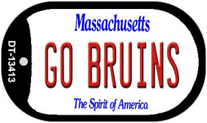 Go Bruins Wholesale Novelty Metal Dog Tag Necklace DT-13413