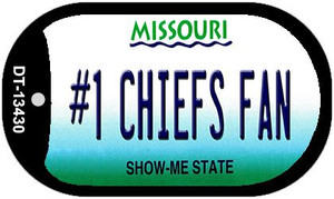 Number 1 Chiefs Fan Wholesale Novelty Metal Dog Tag Necklace DT-13430