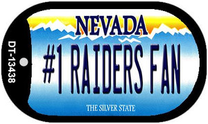 Number 1 Raiders Fan Wholesale Novelty Metal Dog Tag Necklace DT-13438