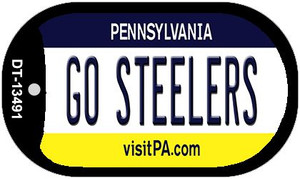Go Steelers Wholesale Novelty Metal Dog Tag Necklace DT-13491